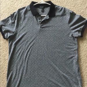 Mens grey and black forever 21 polo